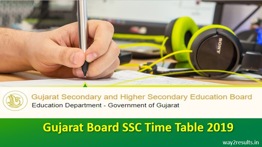 Gujarat Board SSC Time Table 2019 Available to Download Now