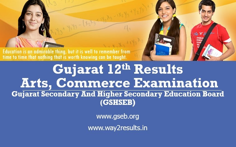 GSEB Gujarat 12th Arts, Commerce Results