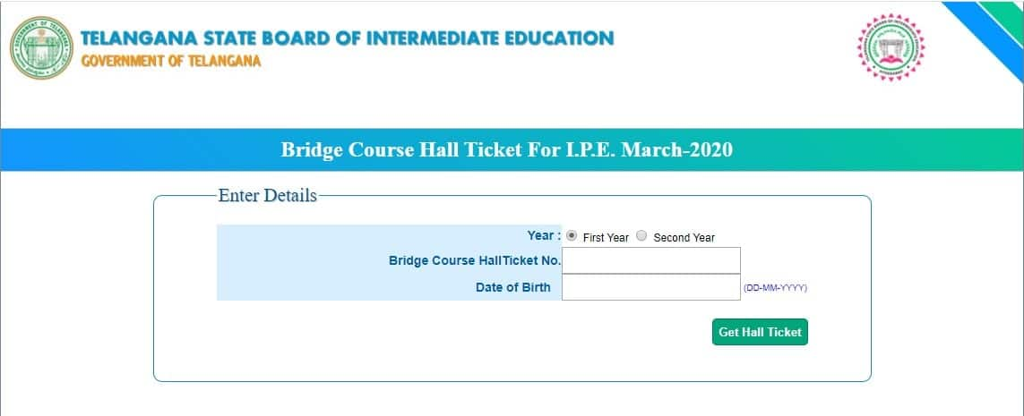 TS Inter Bridge Course Hall Tickets 2020