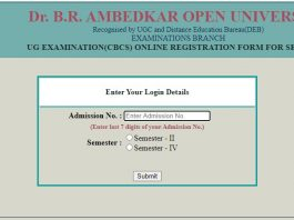 BRAOU UG (CBCS) Online Fee Payment